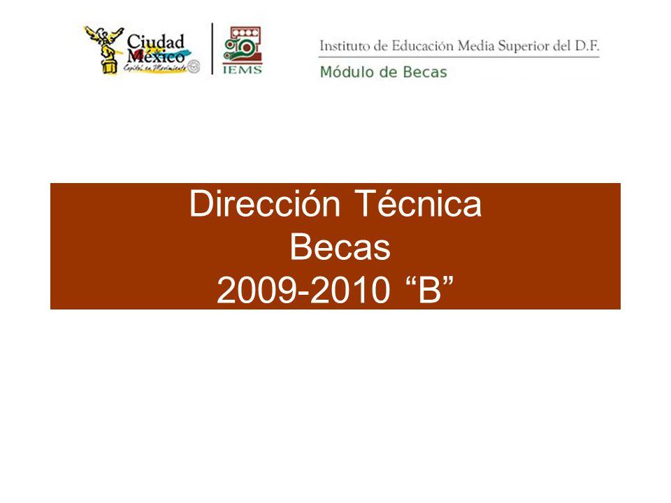 Dirección Técnica Becas 2009-2010 B