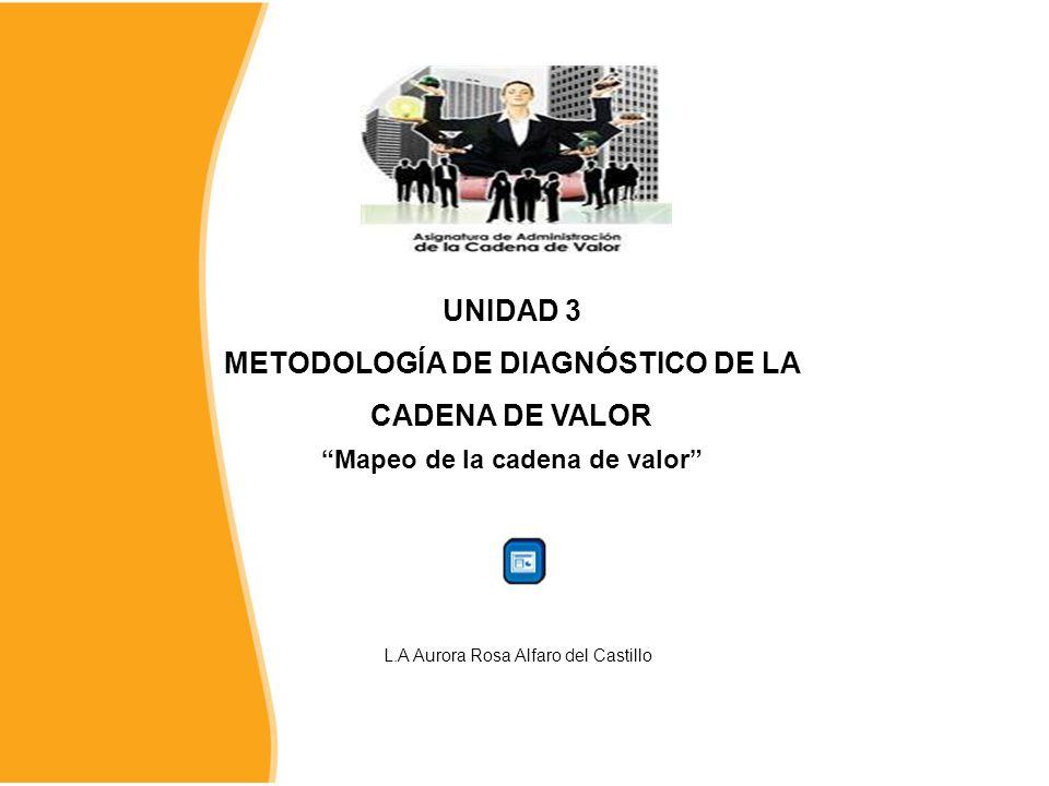 UNIDAD 3 METODOLOGÍA DE DIAGNÓSTICO DE LA CADENA DE VALOR L.A Aurora Rosa Alfaro del Castillo Mapeo de la cadena de valor