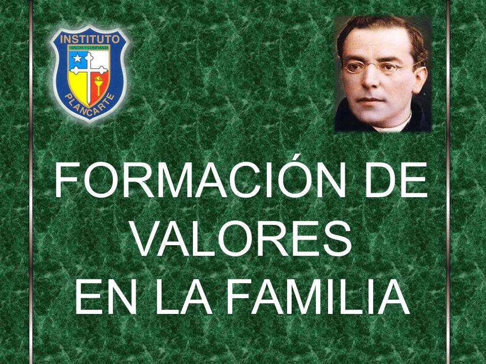 FORMACIÓN DE VALORES EN LA FAMILIA