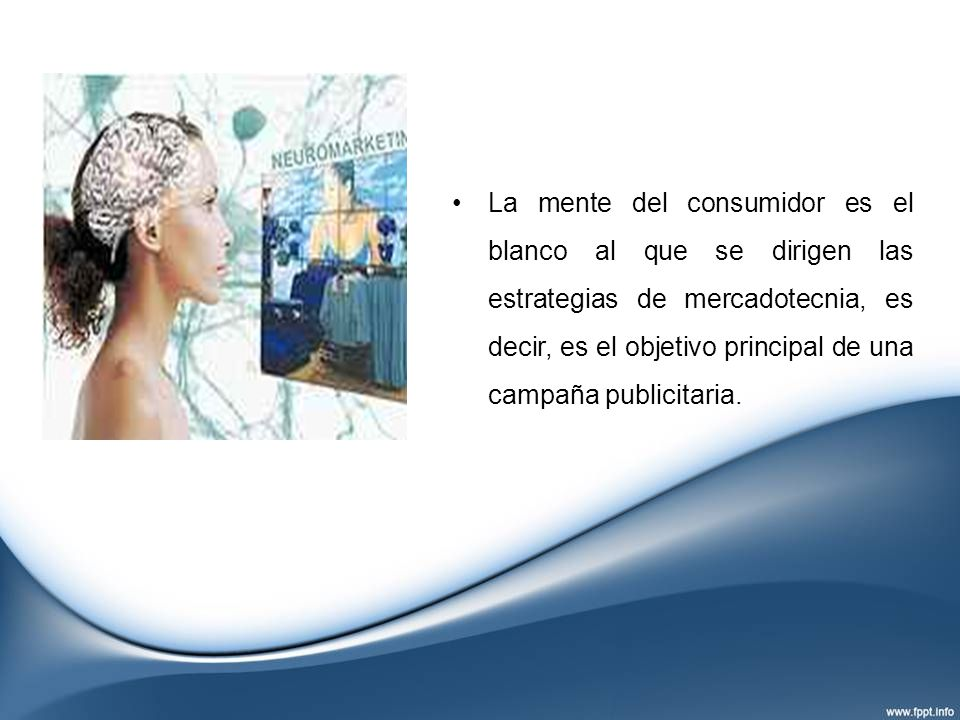 La mente del consumidor es el blanco al que se dirigen las estrategias de mercadotecnia, es decir, es el objetivo principal de una campaña publicitari