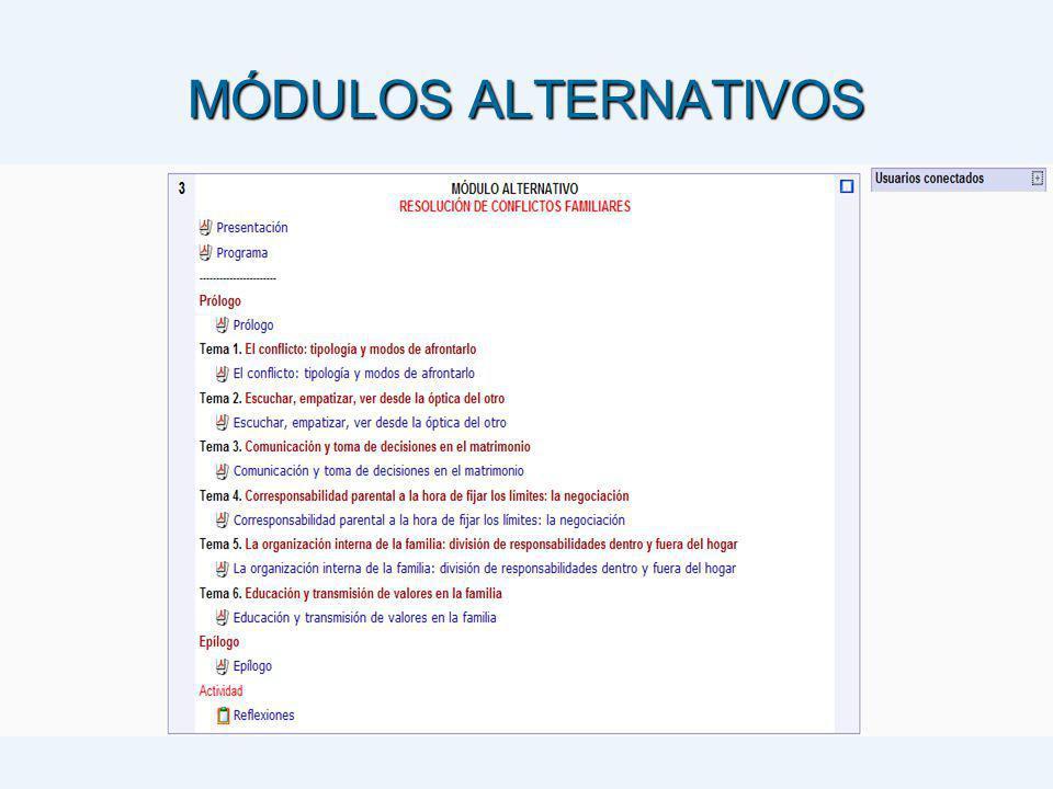 MÓDULOS ALTERNATIVOS