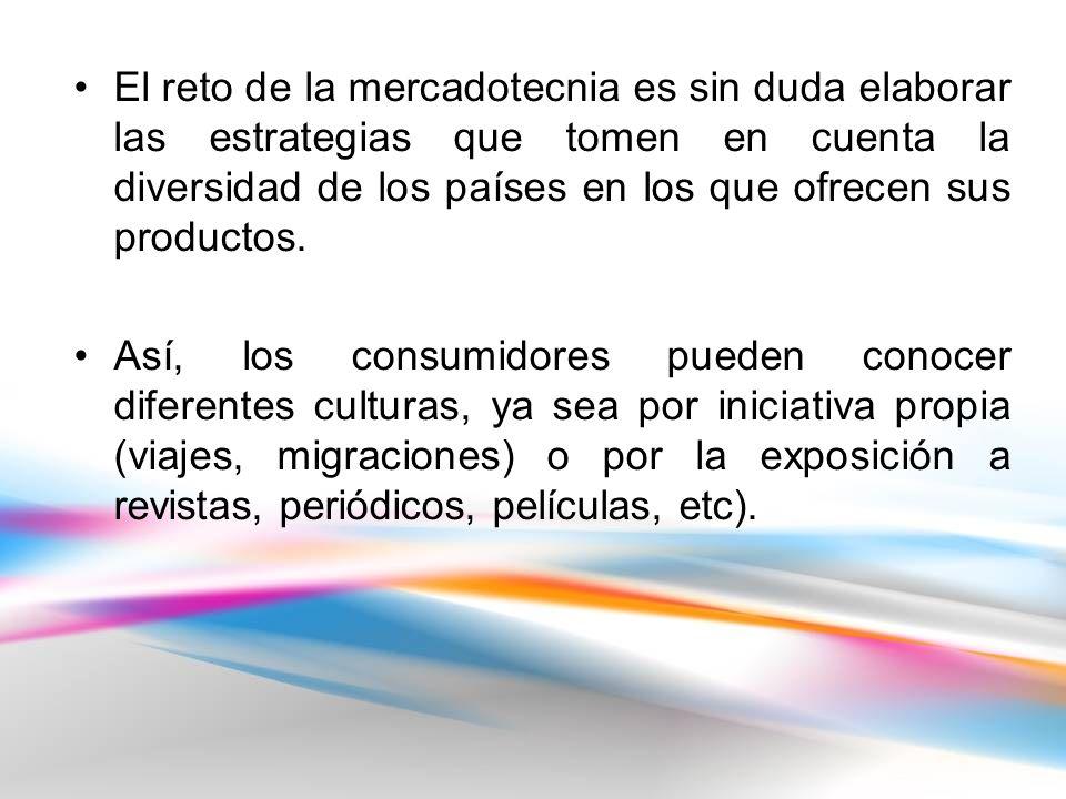 El reto de la mercadotecnia es sin duda elaborar las estrategias que tomen en cuenta la diversidad de los países en los que ofrecen sus productos.