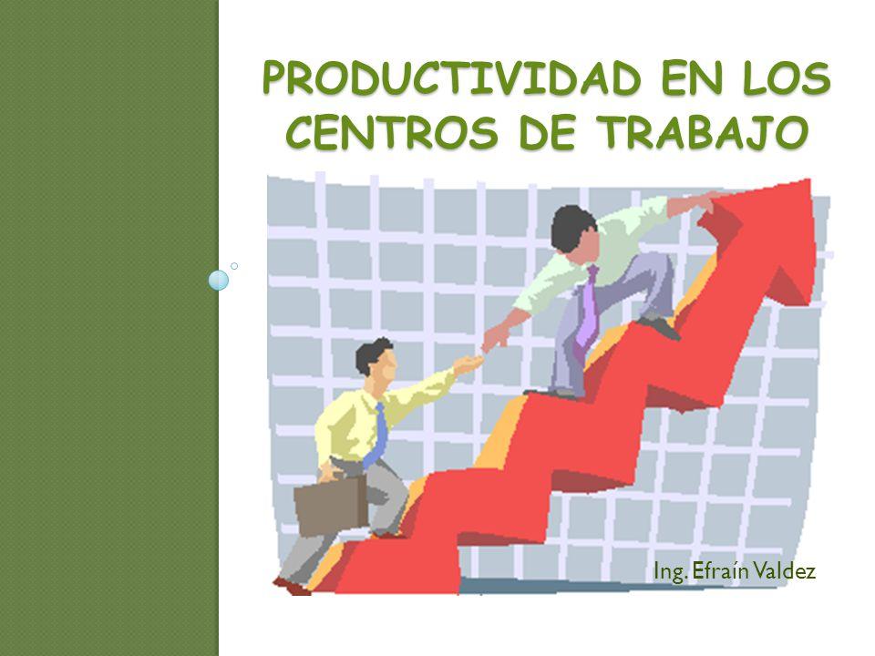 PRODUCTIVIDAD EN LOS CENTROS DE TRABAJO Ing. Efraín Valdez