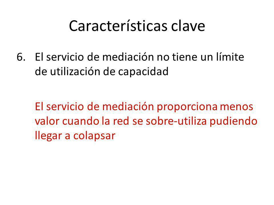 Características clave 6.El servicio de mediación no tiene un límite de utilización de capacidad El servicio de mediación proporciona menos valor cuand