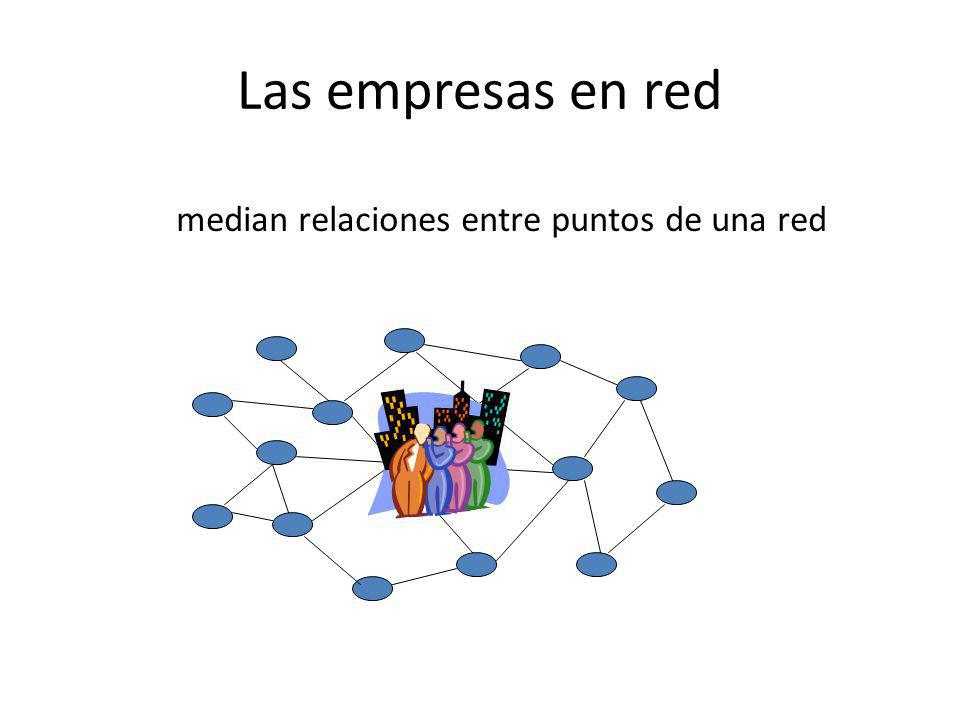 median relaciones entre puntos de una red
