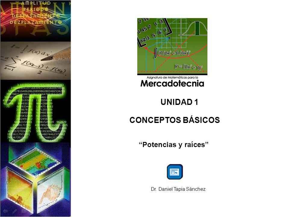 UNIDAD 1 CONCEPTOS BÁSICOS Potencias y raíces Dr. Daniel Tapia Sánchez