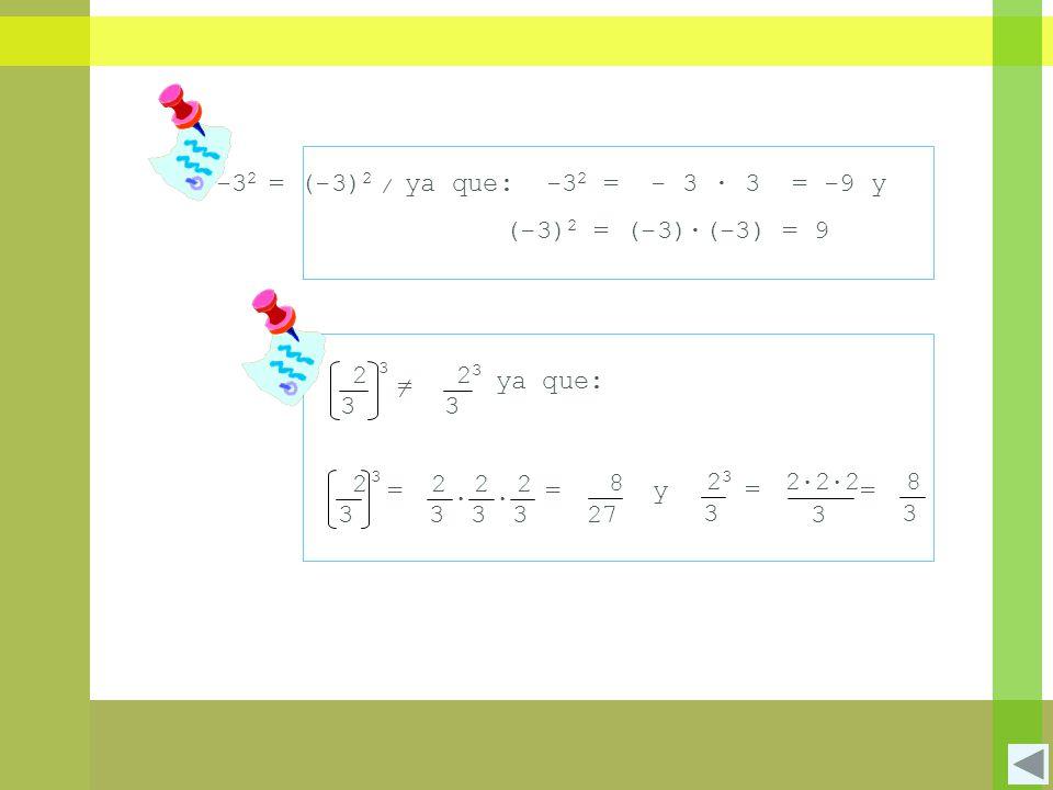 1.6.4 Signos de una potencia Potencias con exponente par: Las potencias con exponente par, son siempre positivas.
