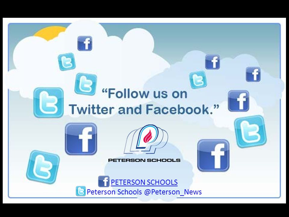 Like and recommend us in PETERSON SCHOOLS Peterson Schools @Peterson_News