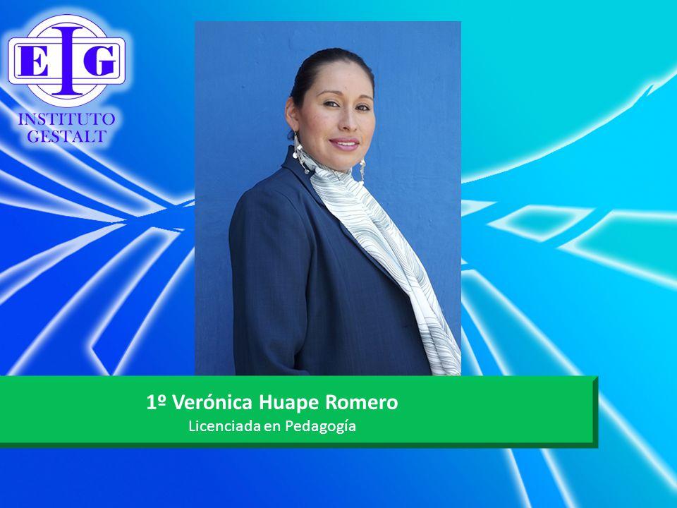 1º Verónica Huape Romero Licenciada en Pedagogía