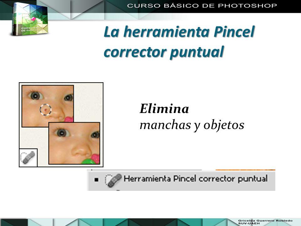 Elimina manchas y objetos La herramienta Pincel corrector puntual