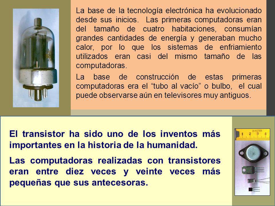 La base de la tecnología electrónica ha evolucionado desde sus inicios.