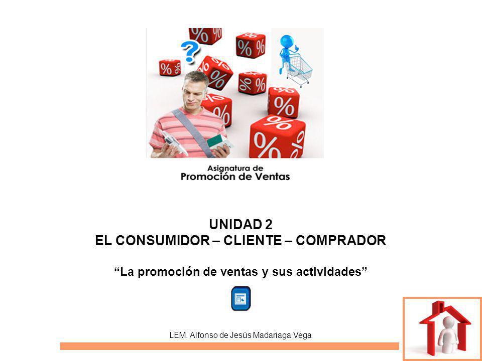 UNIDAD 2 EL CONSUMIDOR – CLIENTE – COMPRADOR La promoción de ventas y sus actividades LEM.