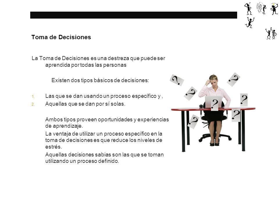 Toma de Decisiones Este proceso está basado en los valores y percepciones de aquel que toma la decisión.
