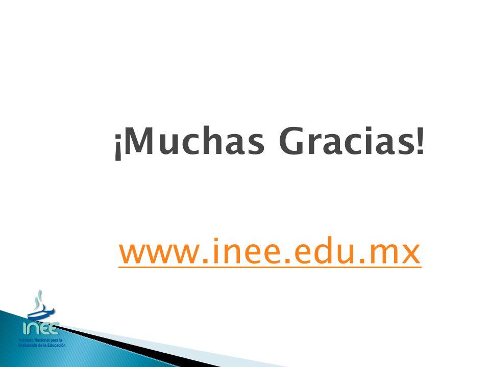 ¡Muchas Gracias! www.inee.edu.mx
