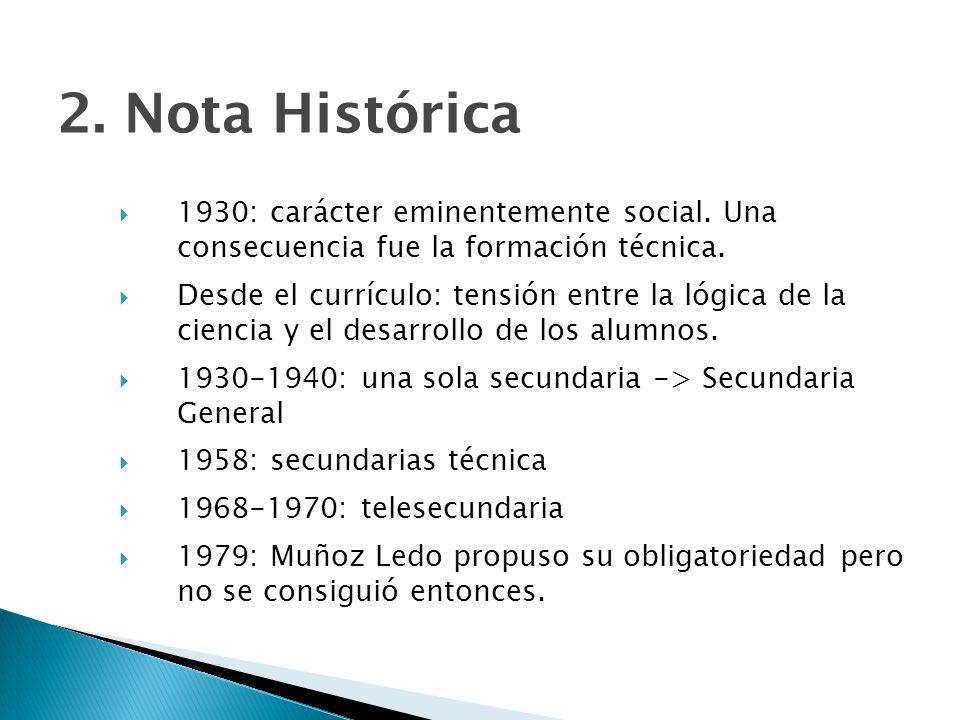 2.Nota Histórica 1930: carácter eminentemente social.