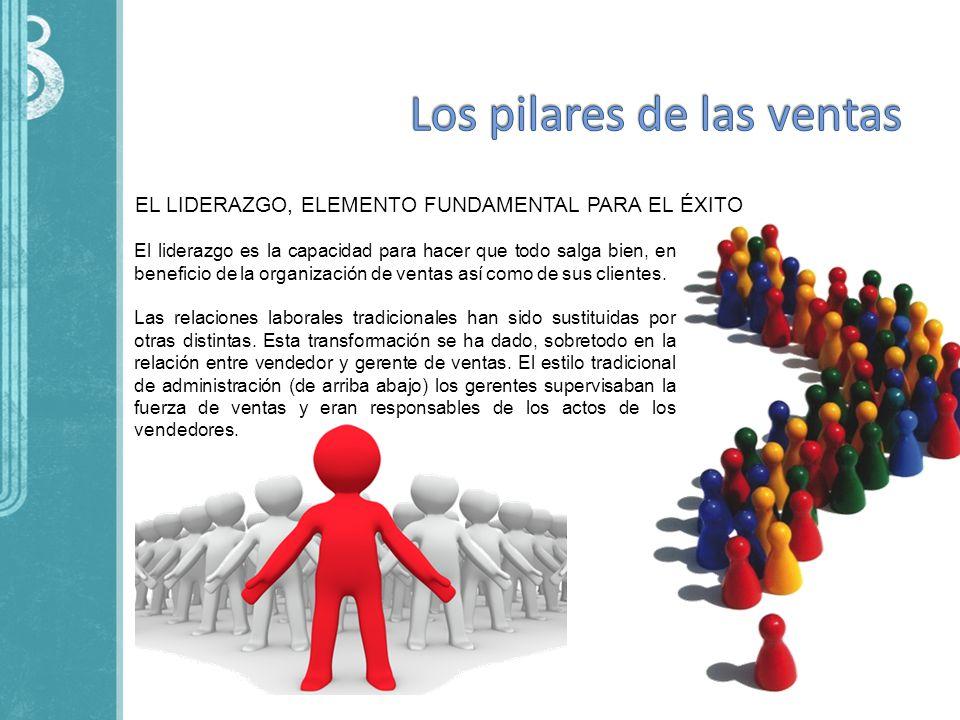 EL LIDERAZGO, ELEMENTO FUNDAMENTAL PARA EL ÉXITO El liderazgo es la capacidad para hacer que todo salga bien, en beneficio de la organización de venta