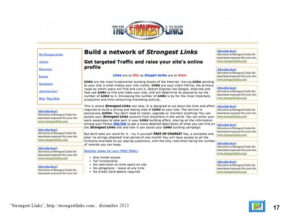 17 Strongest Links, http://strongestlinks.com/, diciembre 2013
