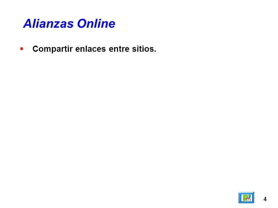 4 Compartir enlaces entre sitios. Alianzas Online
