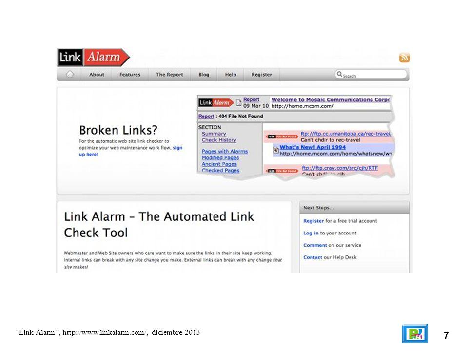 7 Link Alarm, http://www.linkalarm.com/, diciembre 2013