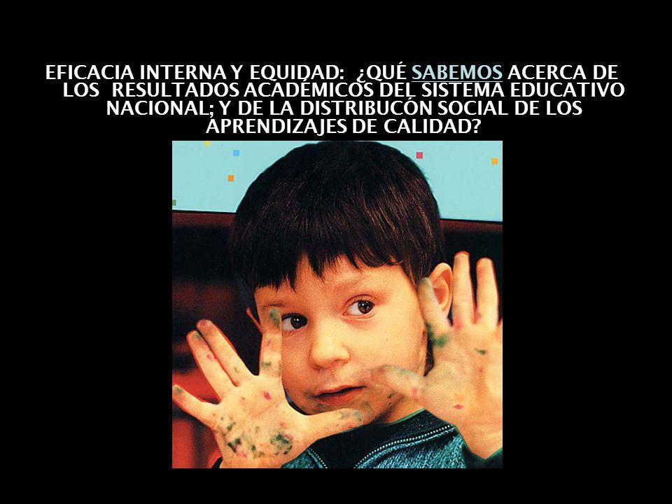 07/06/2014Consideraciones para definir la agenda educativa 18 EFICACIA INTERNA Y EQUIDAD: ¿QUÉ SABEMOS ACERCA DE LOS RESULTADOS ACADÉMICOS DEL SISTEMA