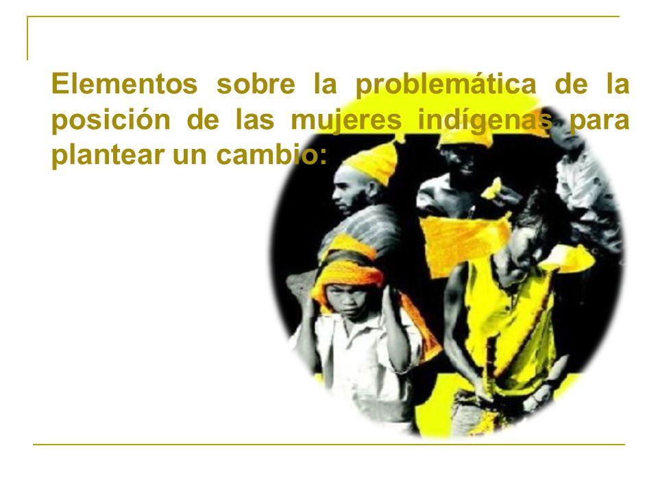 PROBLEMÁTICA Posición de la Mujer indígena Dentro del pueblo Posición de la Mujer indígena Dentro del pueblo Condición de Discriminación.