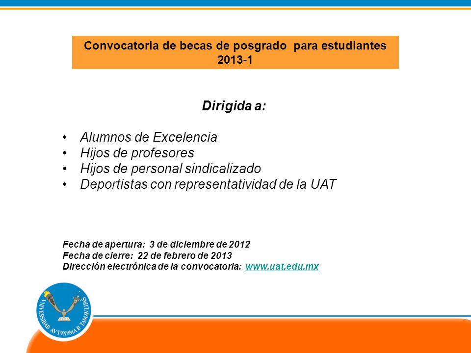 CONVOCATORIA PREMIO UNIVERSITARIO 2013-UAT Tesis de Calidad Licenciado Natividad Garza Leal en sus dos modalidades: Licenciatura y Maestría.