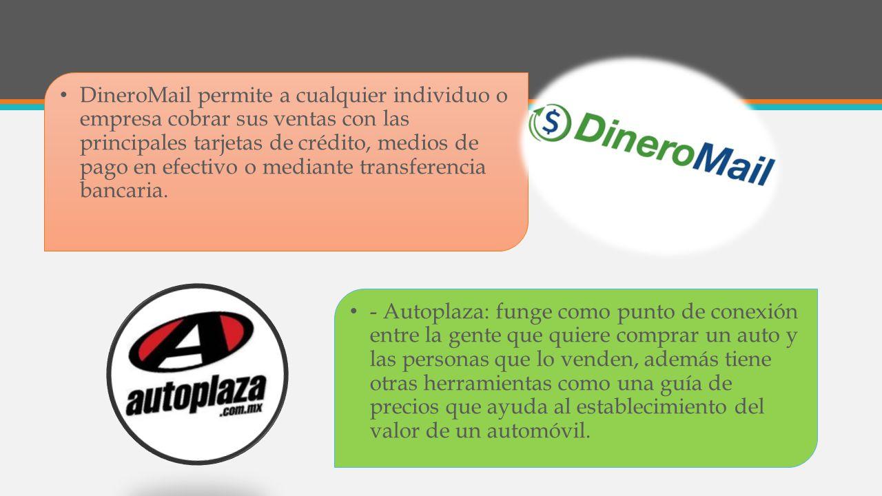 DineroMail permite a cualquier individuo o empresa cobrar sus ventas con las principales tarjetas de crédito, medios de pago en efectivo o mediante tr