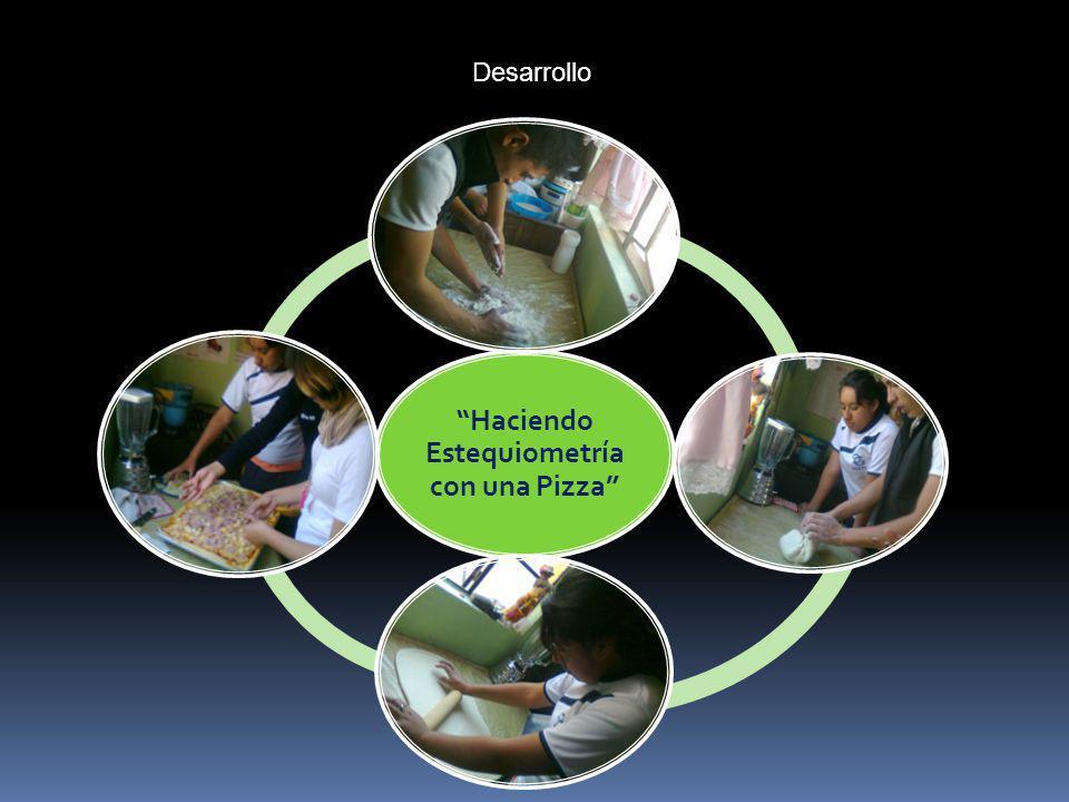 Desarrollo Haciendo Estequiometría con una Pizza