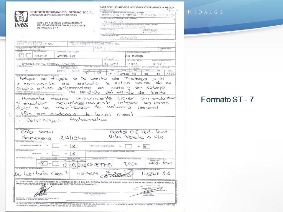 Formato ST – 7 (Reverso)