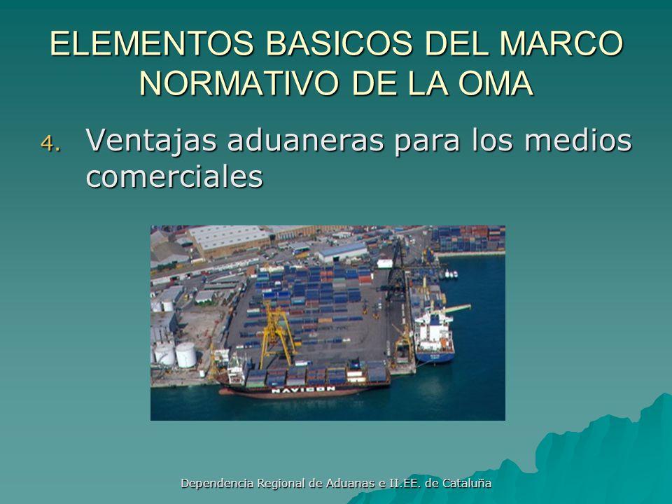 Dependencia Regional de Aduanas e II.EE. de Cataluña ELEMENTOS BASICOS DEL MARCO NORMATIVO DE LA OMA 3. Apeticion, inspección de la carga destinada al