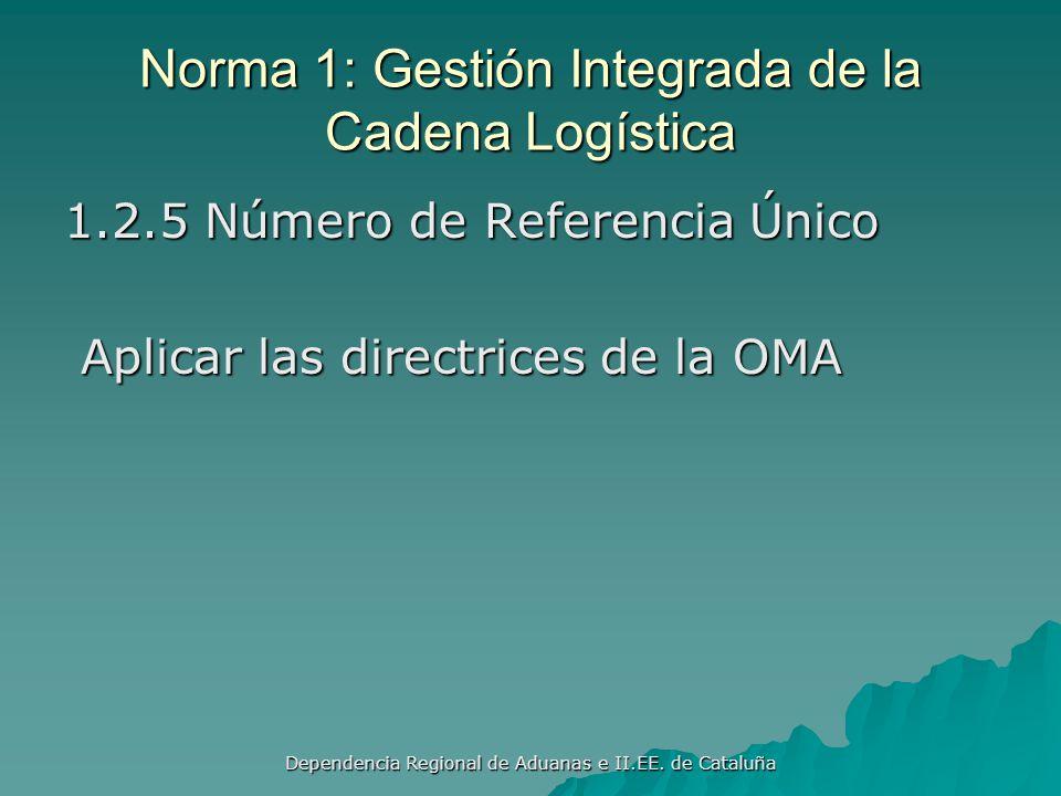 Dependencia Regional de Aduanas e II.EE. de Cataluña Norma 1: Gestión Integrada de la Cadena Logística 1.2.4 Precintado Implementar un programa de inv
