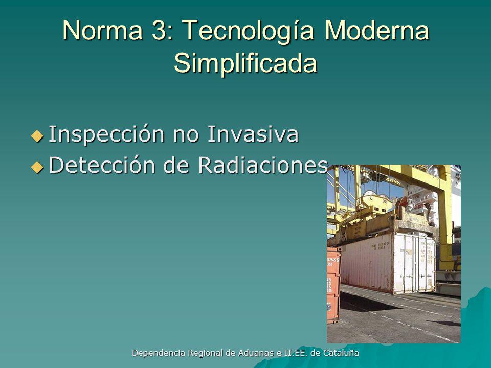 Dependencia Regional de Aduanas e II.EE. de Cataluña Norma 3: Sistema de Análisis de Riesgos Establecer un sistema informatizado de análisis de riesgo