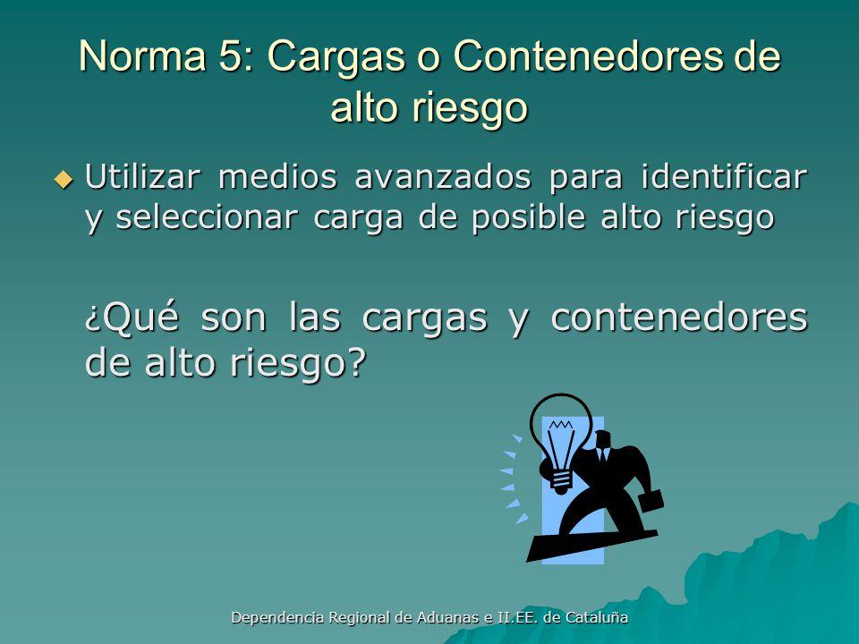 Dependencia Regional de Aduanas e II.EE. de Cataluña Norma 4: Sistema de Análisis de Riesgos ¿Qué se entiende por análisis de riesgos ¿Cuál es el comp