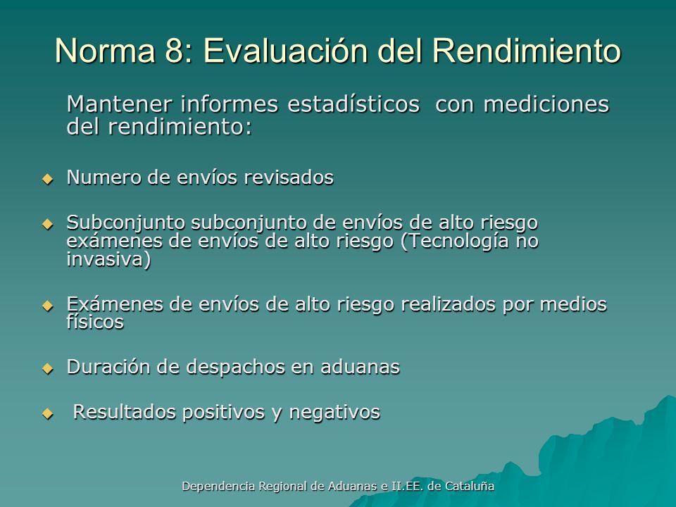 Dependencia Regional de Aduanas e II.EE. de Cataluña Norma 7: Selección y Comunicación Selección y reconocimientos conjuntos Selección y reconocimient