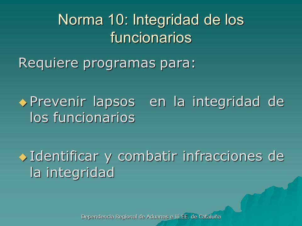 Dependencia Regional de Aduanas e II.EE. de Cataluña Norma 9: Evaluaciones de la Seguridad Realizar evaluaciones de la seguridad Realizar evaluaciones