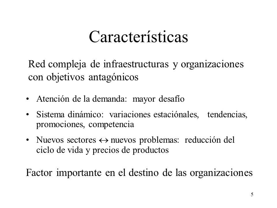 5 Características Red compleja de infraestructuras y organizaciones con objetivos antagónicos Atención de la demanda: mayor desafío Sistema dinámico:
