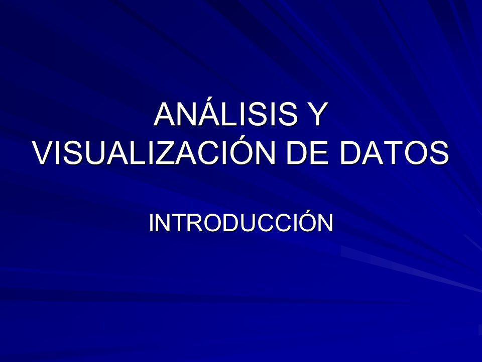 ANÁLISIS Y VISUALIZACIÓN DE DATOS INTRODUCCIÓN