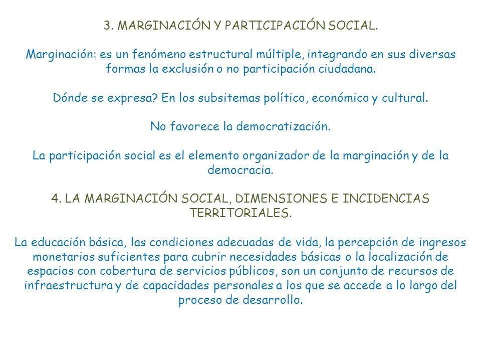 3.MARGINACIÓN Y PARTICIPACIÓN SOCIAL.