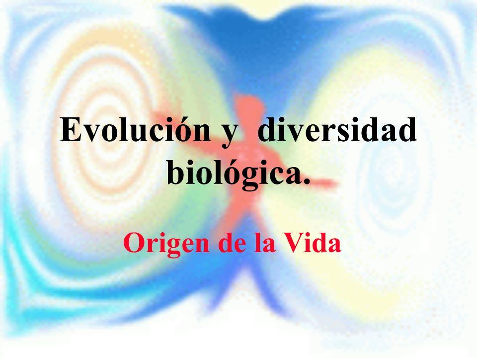 Evolución y diversidad biológica. Origen de la Vida