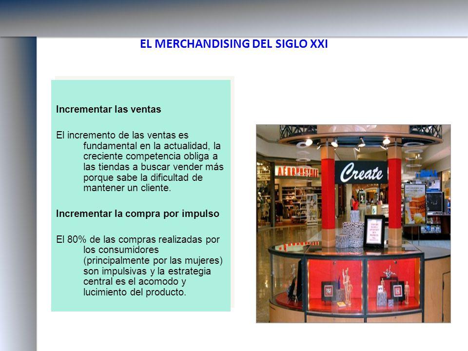 EL MERCHANDISING DEL SIGLO XXI Incrementar las ventas El incremento de las ventas es fundamental en la actualidad, la creciente competencia obliga a l