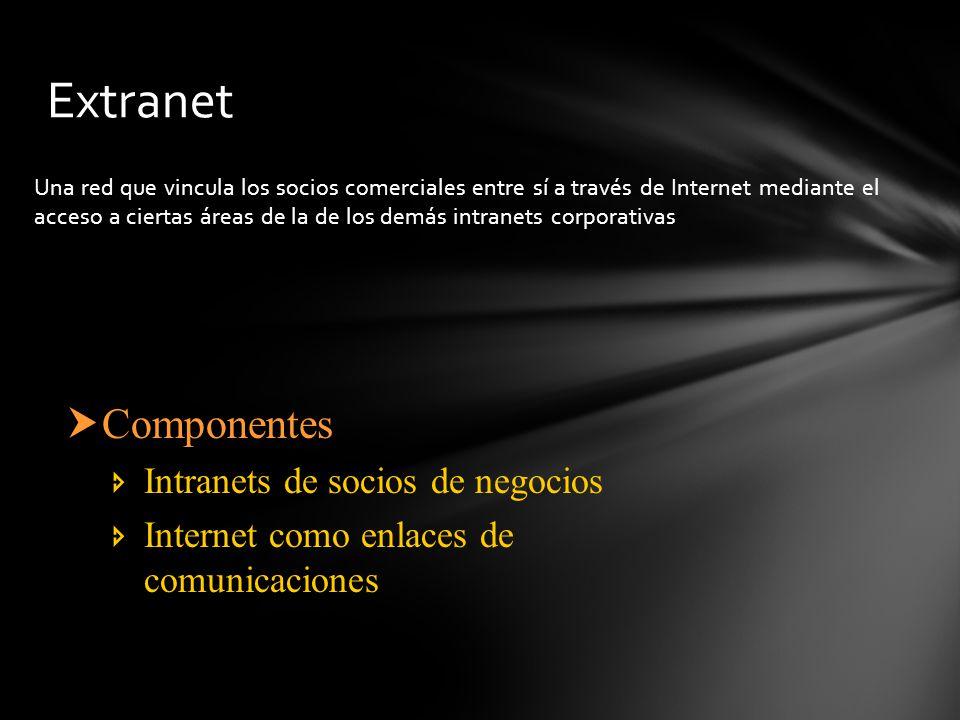 Una red que vincula los socios comerciales entre sí a través de Internet mediante el acceso a ciertas áreas de la de los demás intranets corporativas