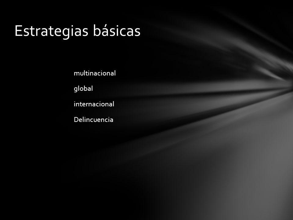 multinacional global internacional Delincuencia Estrategias básicas