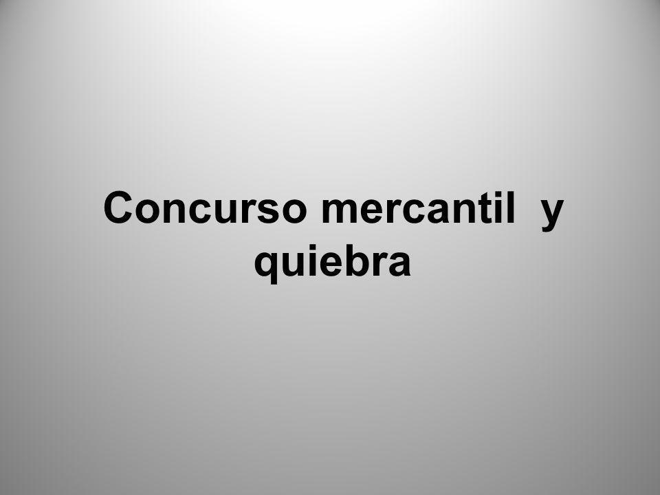 El proceso de concurso mercantil está regulado por la Ley de concursos Mercantiles y quiebras.