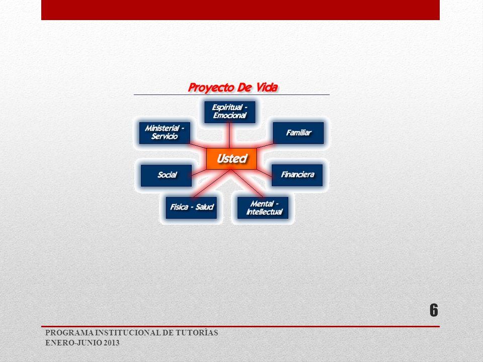 PROGRAMA INSTITUCIONAL DE TUTORÌAS ENERO-JUNIO 2013 6