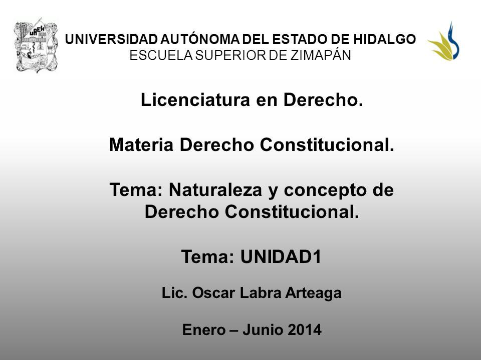 Tema: Naturaleza y concepto de Derecho Constitucional.