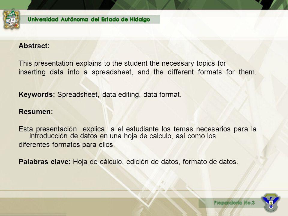 UNIDAD I.Hoja de cálculo 2. Introducción y edición de datos.