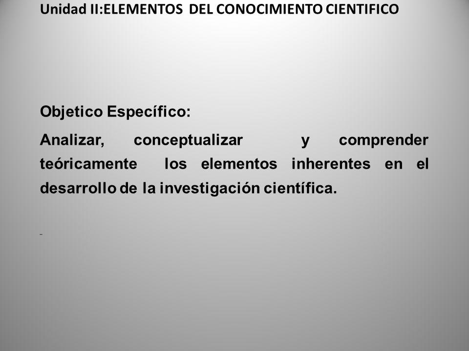 Tema 2.1 Ciencia y Conocimiento.