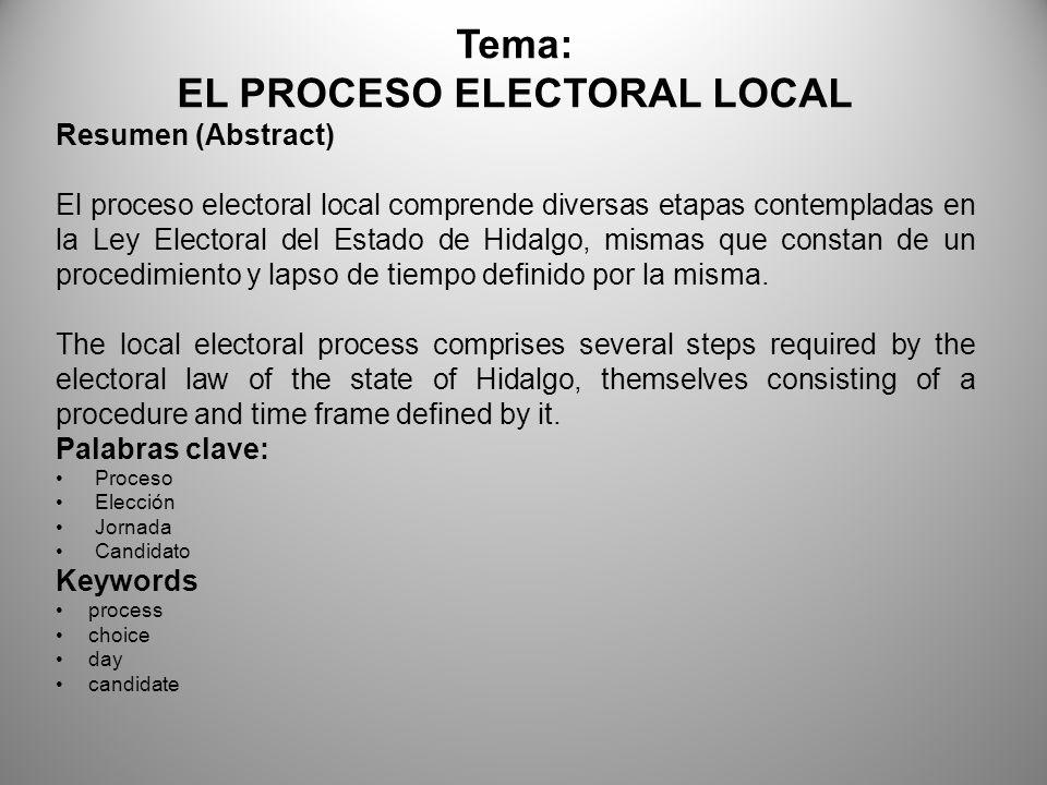 Objetivo general: Analizara, explicara e integrara el horizonte de la legislación electoral mexicana, su desarrollo y ubicación con respecto a las diversas democracias occidentales, así mismo llevara a la práctica el procedimiento contencioso electoral y los deberes de los diversos actores electorales.