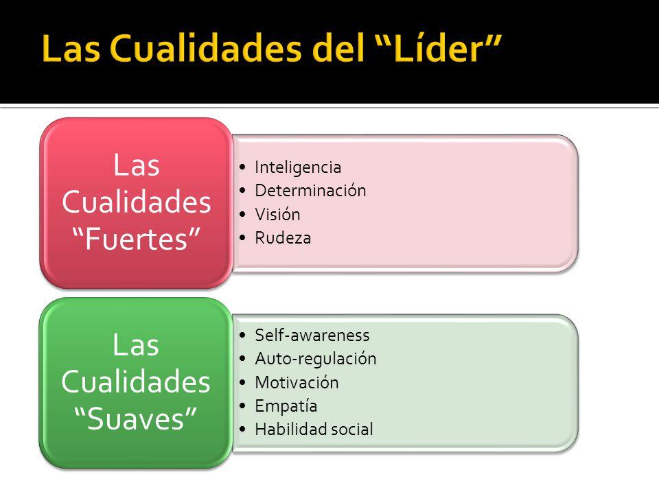 Inteligencia Determinación Visión Rudeza Las Cualidades Fuertes Self-awareness Auto-regulación Motivación Empatía Habilidad social Las Cualidades Suav