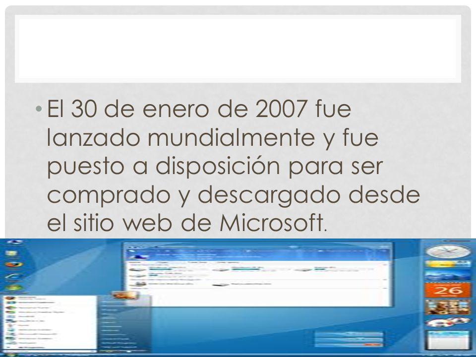 El 30 de enero de 2007 fue lanzado mundialmente y fue puesto a disposición para ser comprado y descargado desde el sitio web de Microsoft.